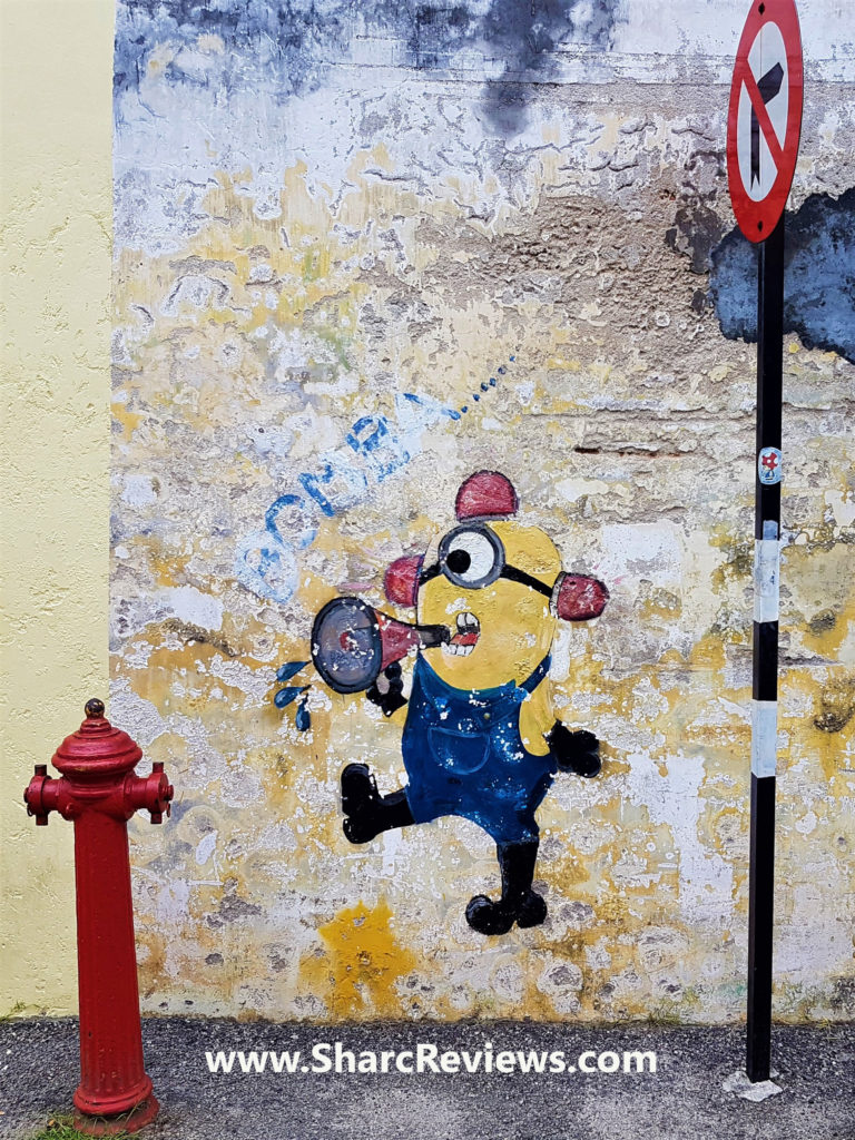 Penang street art mural collection sharc reviews minion with fire hydrant mural penang amipublicfo Images